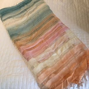 Accessories - Multi Color Light-weight Silk Scarf